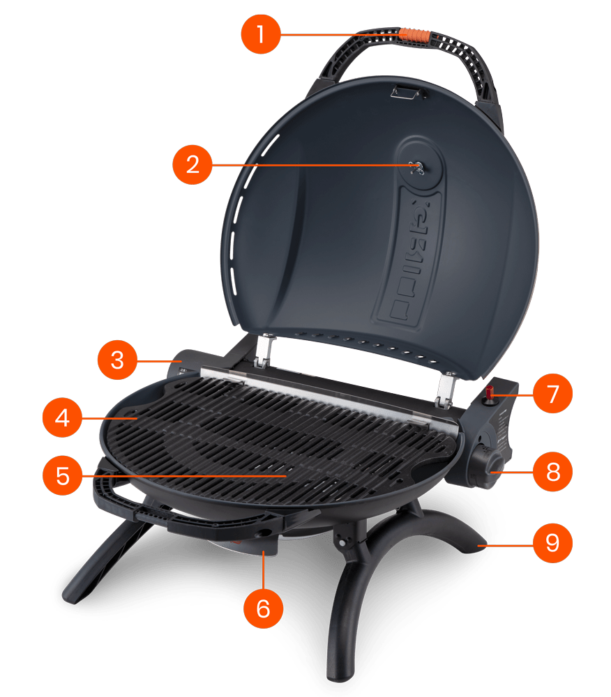 3D Perspective Description of Product of O-Grill 900 MT Portable Gas Grill