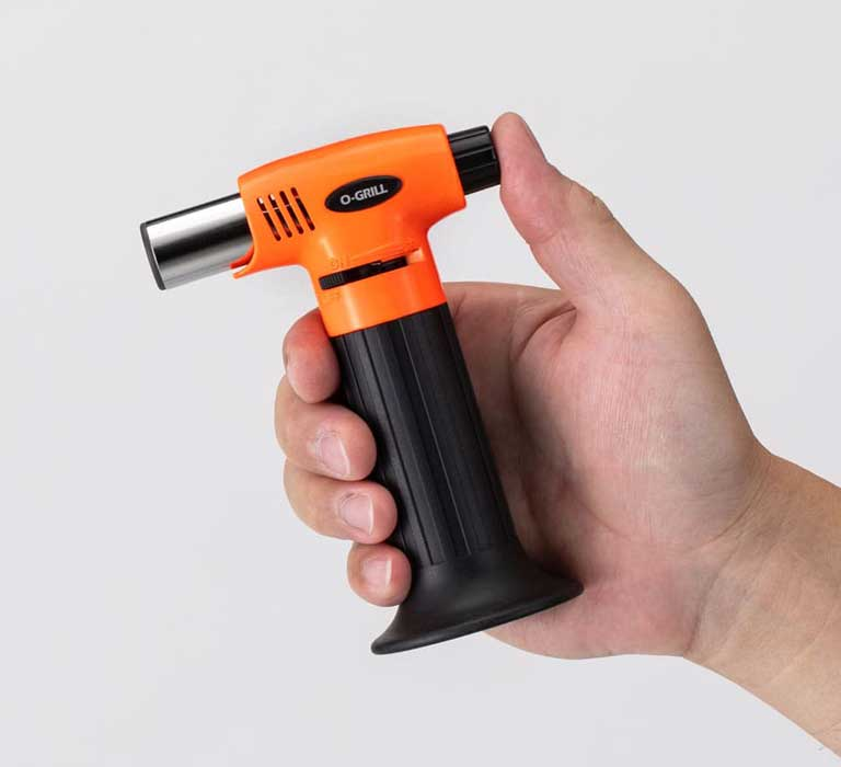 GT-200 Compact Butane Culinary Torch in the Hand