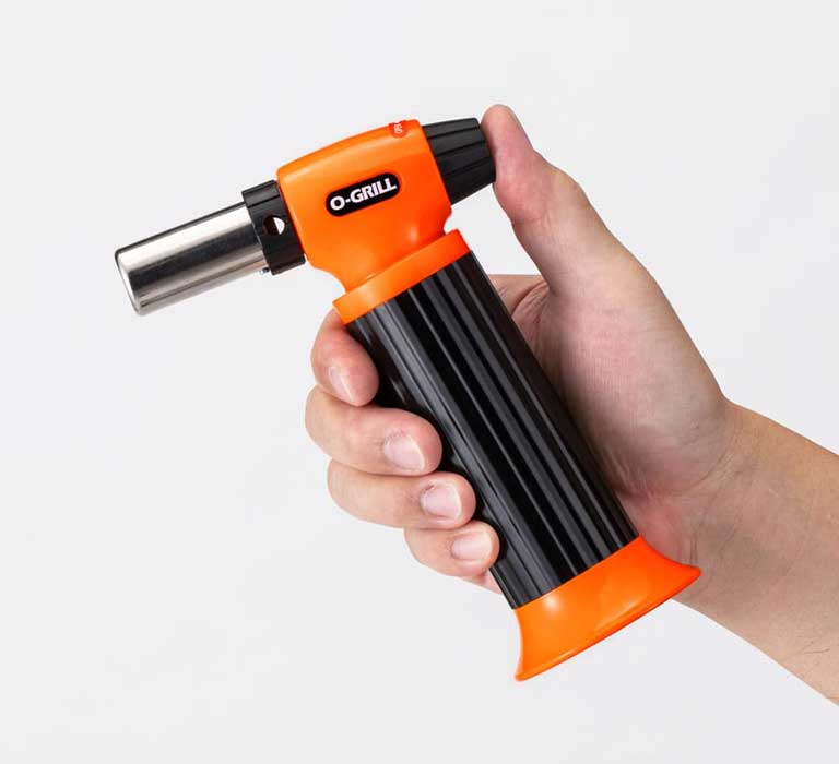 GT-500 High Output Culinary Butane Torch in the Hand