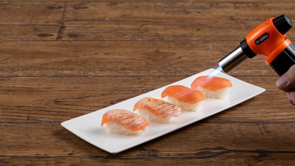 Grilling Sushi with O-grill Best Professional & Commercial Kitchen Torch